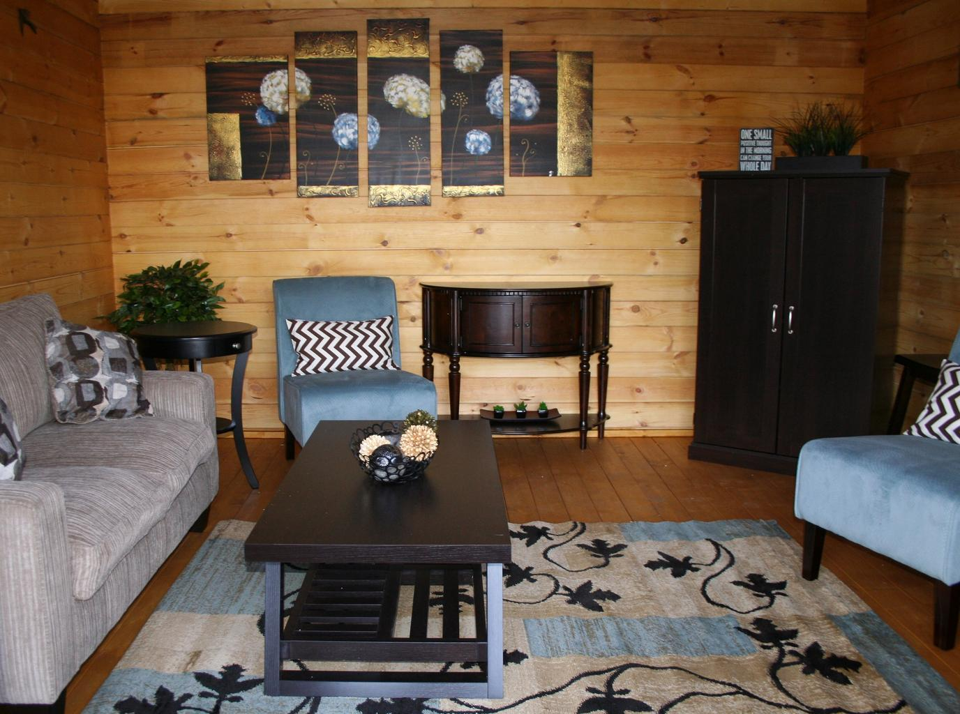 bývanie, sedačky, stolík