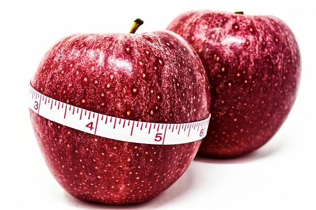 měření jablka