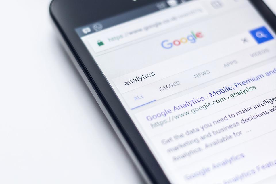 mobil, Google analytics